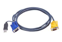 Cavo KVM USB con SPHD 3 in 1 e convertitore PS/2 a USB integrato – 1,8 m