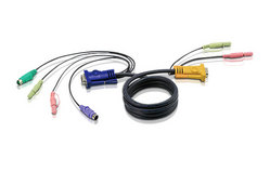 Cable KVM PS/2 de 1,8 m con SPHD 3 en 1 y audio