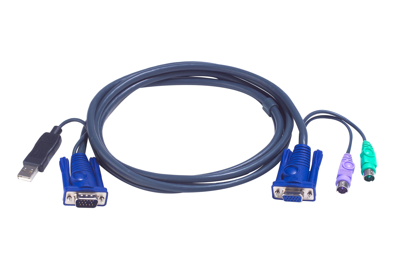6m USB KVMケーブル (PS/2→USB変換機能付属)-1