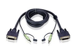 DVI-D-Single-Link-KVM-Kabel, 1,8 m