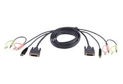 5m USB DVI-Dシングルリンク KVMケーブル