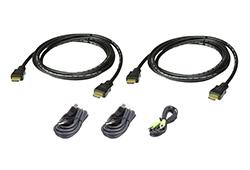 1.8M USB HDMI Dual Display Secure KVM Cable Kit