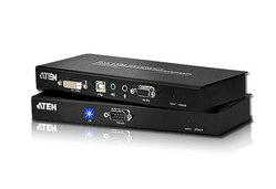 Alargador KVM Cat 5 de enlace dual DVI USB (1024 x 768 a 60 m)