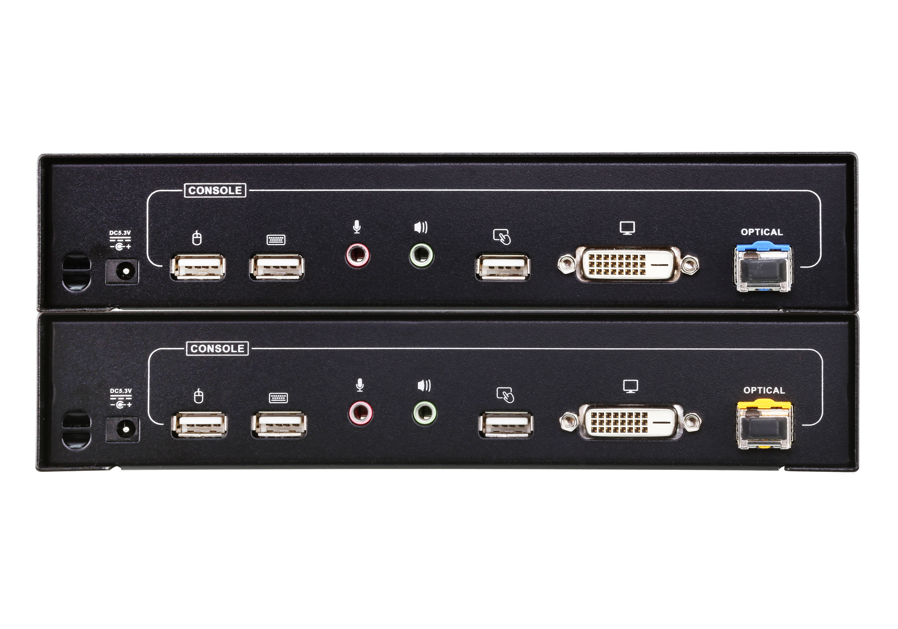 USB DVI Optical KVM Extender (1920 x 1200@600m)-2