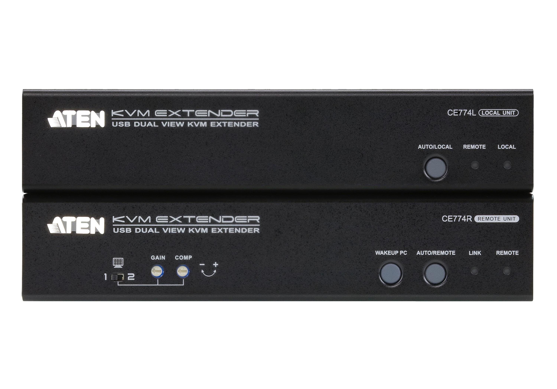 USB VGA双显示Cat 5 KVM信号延长器 (1600x1200@150m)-3