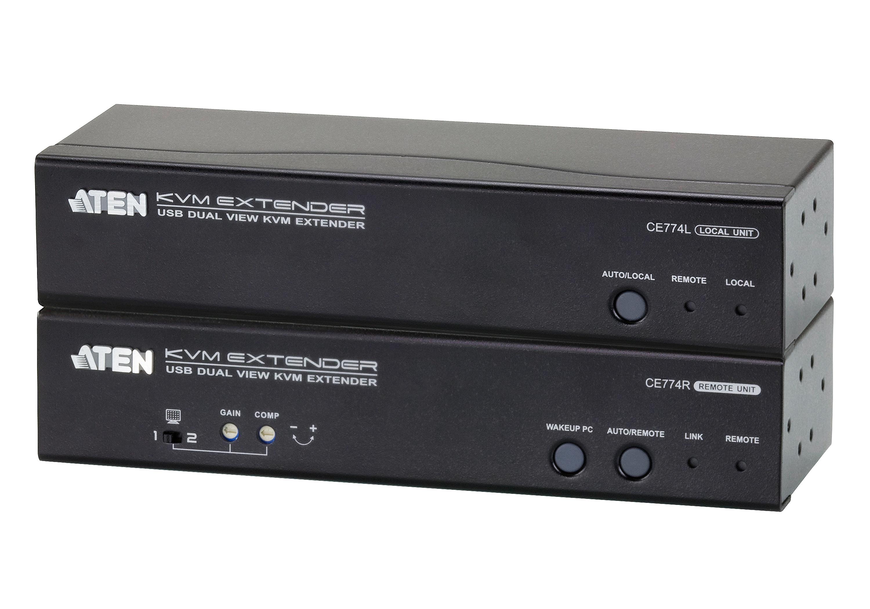 USB VGA双显示Cat 5 KVM信号延长器 (1600x1200@150m)-1