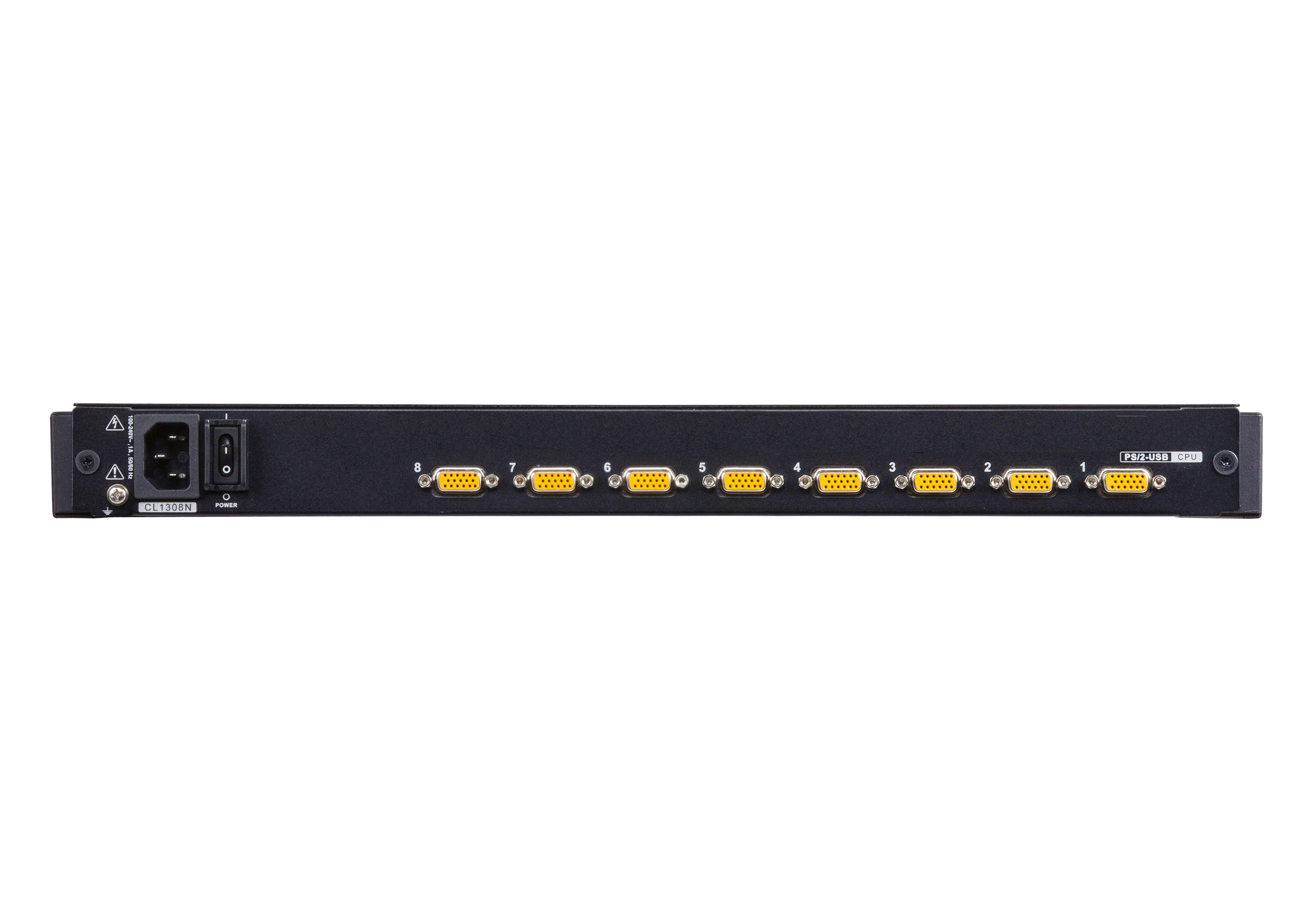 8-Port PS/2-USB VGA LCD KVM Switch-2