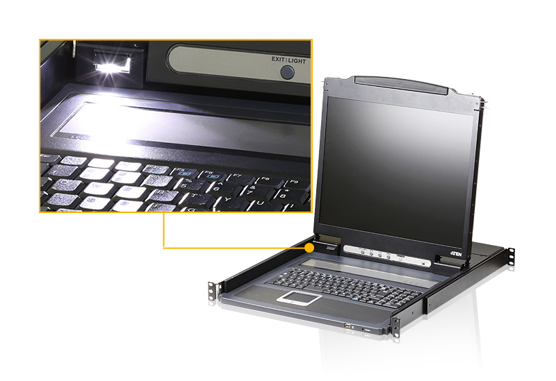 Lightweight PS/2-USB VGA LCD Console with USB Peripheral Support-4