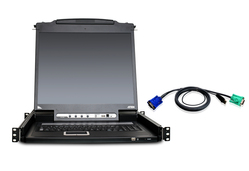 8-Port 17in. Single Rail LCD KVM Bundle