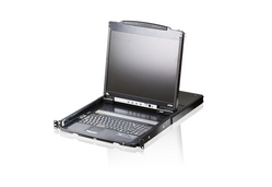 PS/2-USB VGA Dual Rail LCD Console with USB Peripheral Support