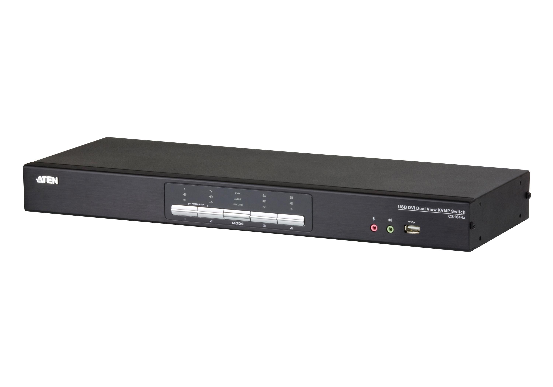 4埠USB DVI Dual Link雙螢幕/音訊 KVMP™多電腦切換器-1