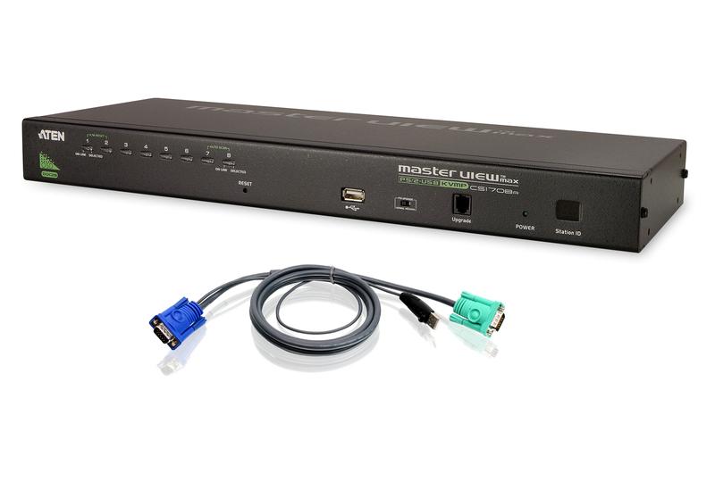 8-Port Combo (USB-PS/2) KVMP w/ 8-USB Cables-1