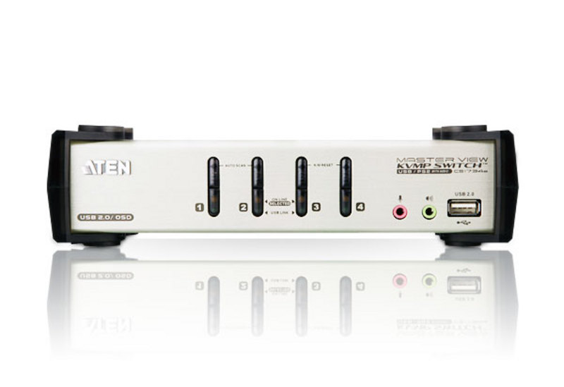 4-Port PS/2-USB VGA/Audio KVMP™ Switch with OSD-3