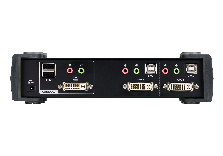 Comutador KVMP™ de 2 portas USB DVI-2