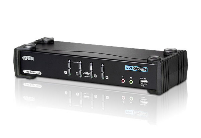 4-Port USB DVI Dual Link/Audio KVMP™ Switch-1