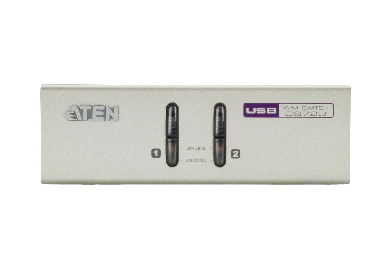 2端口USB VGA/音频KVM多电脑切换器-3