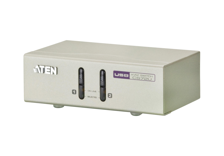 2端口USB VGA/音频KVM多电脑切换器-1