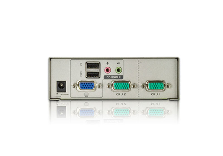 Comutador KVM de 2 portas USB VGA/Áudio-2