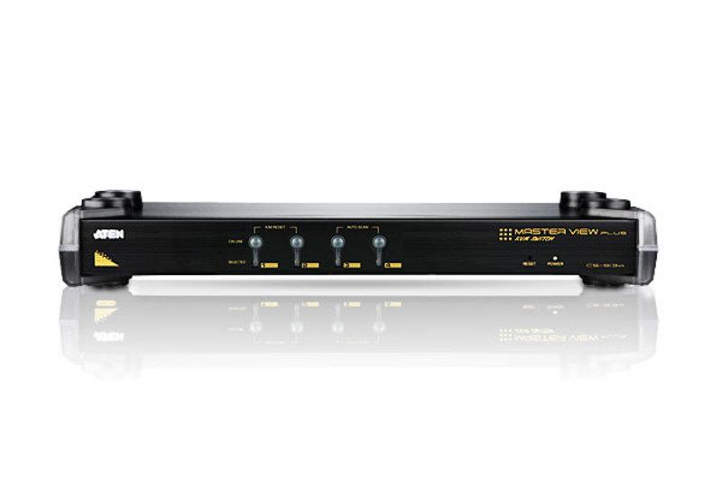 4端口PS/2 VGA KVM多电脑切换器+菊式串接端口-3