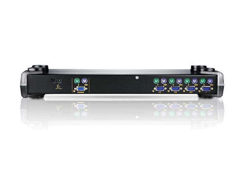 4端口PS/2 VGA KVM多电脑切换器+菊式串接端口-2