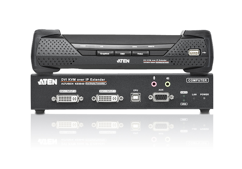 DVI-I双屏幕 KVM Over IP信号延长器-3