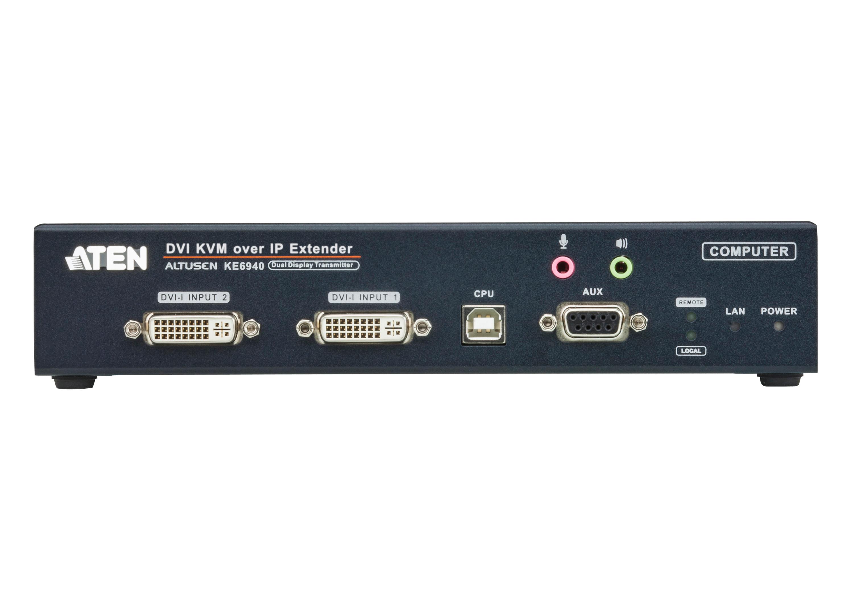 DVI-I雙螢幕KVM Over IP訊號延長器(傳送裝置)-3