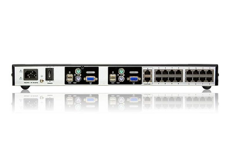 16-Port Cat 5 High Density KVM Switch-2