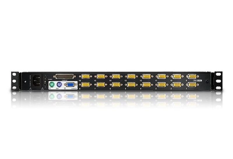 16-Port Dual Rail LCD KVM Switch-2