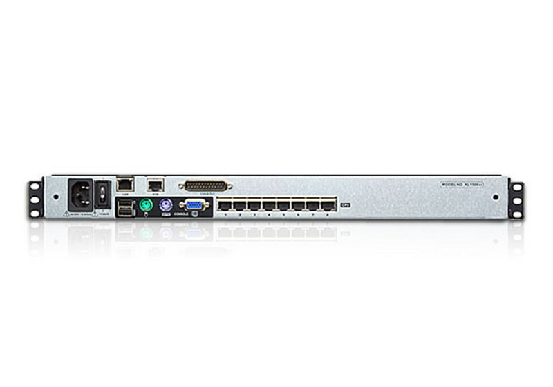 Acceso compartido para 1 local/remoto Conmutador KVM LCD de dos rieles Cat 5 de 8 puertos sobre IP con puerto para conexión en cadena-2