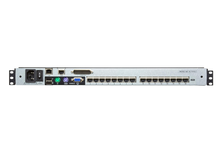 Acceso compartido para 1 local/remoto Conmutador KVM LCD de dos rieles Cat 5 de 16 puertos sobre IP con puerto para conexión en cadena-2