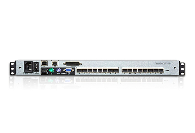 16-Port 19in. Dual Rail CAT5 LCD KVM over IP Switch-2