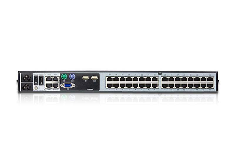 1 acesso local/2 remoto Comutador KVM de 32 portas Cat 5 através de IP com Multimédia Virtual-2