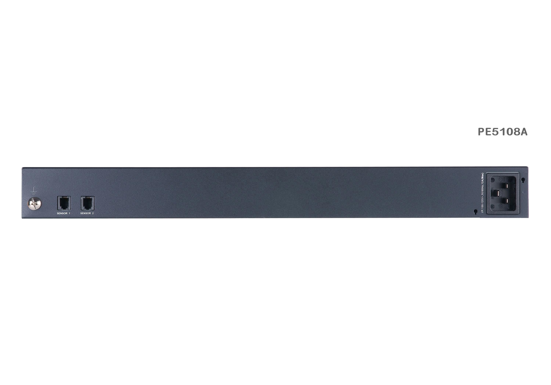 計測機能搭載 温湿度センサー対応 1Uタイプ8ポートeco PDU (NEMA)-2