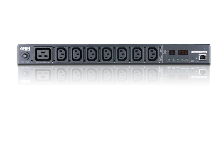 20A/16A 8-插座1U测量型智能PDU电源分配器-3