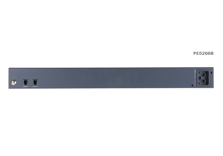 計測機能搭載 温湿度センサー対応 1Uタイプ8ポートeco PDU (IEC 200V 20Aモデル)-2