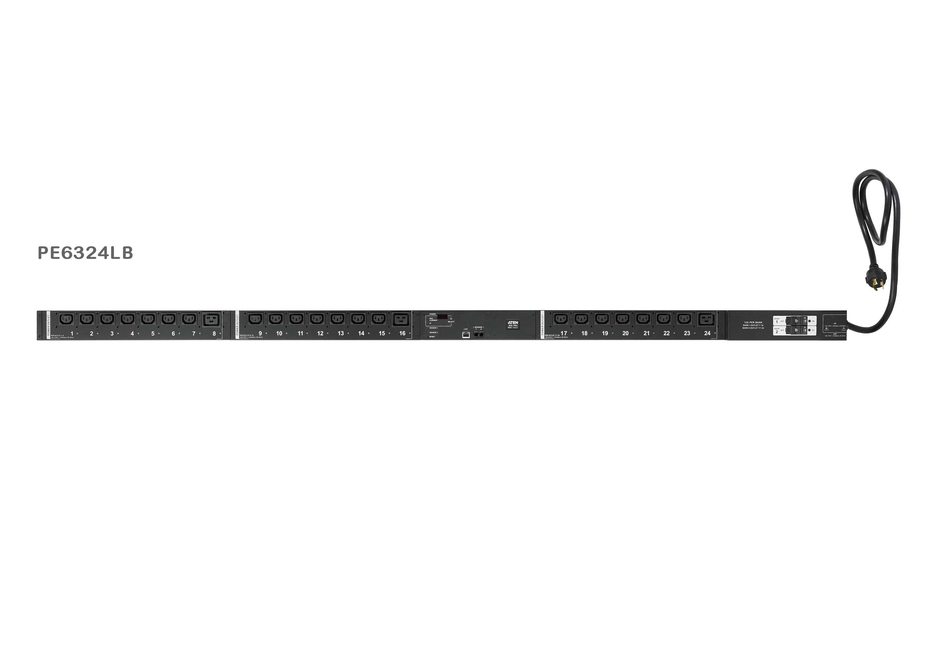 30A/32A 24-Outlet Metered & Switched Low Profile eco PDU-1
