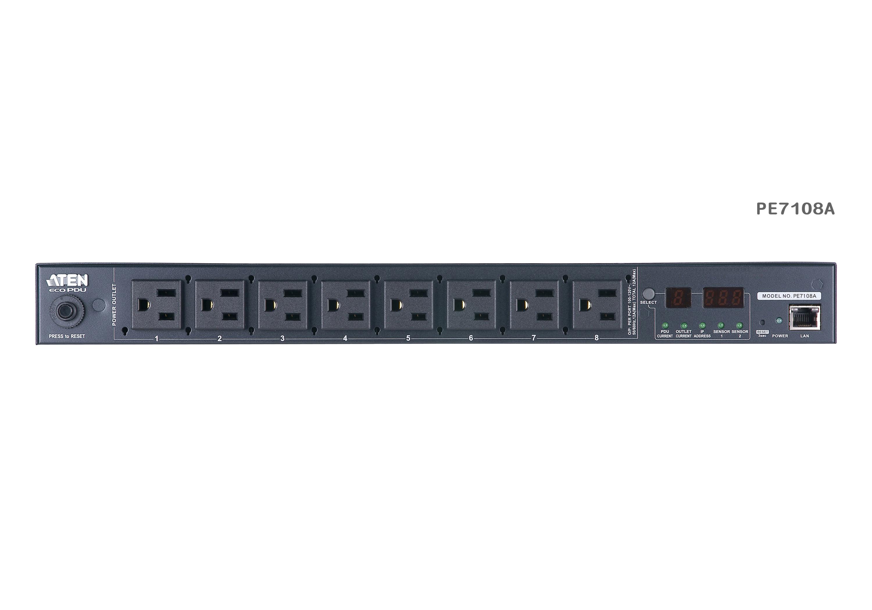 15A/10A 8插座1U测量型智能PDU电源分配器-3