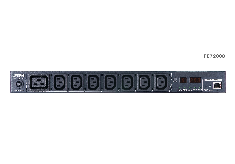 計測機能搭載 温湿度センサー対応 1Uタイプ8ポートeco PDU (IEC 200V 20Aモデル)-3
