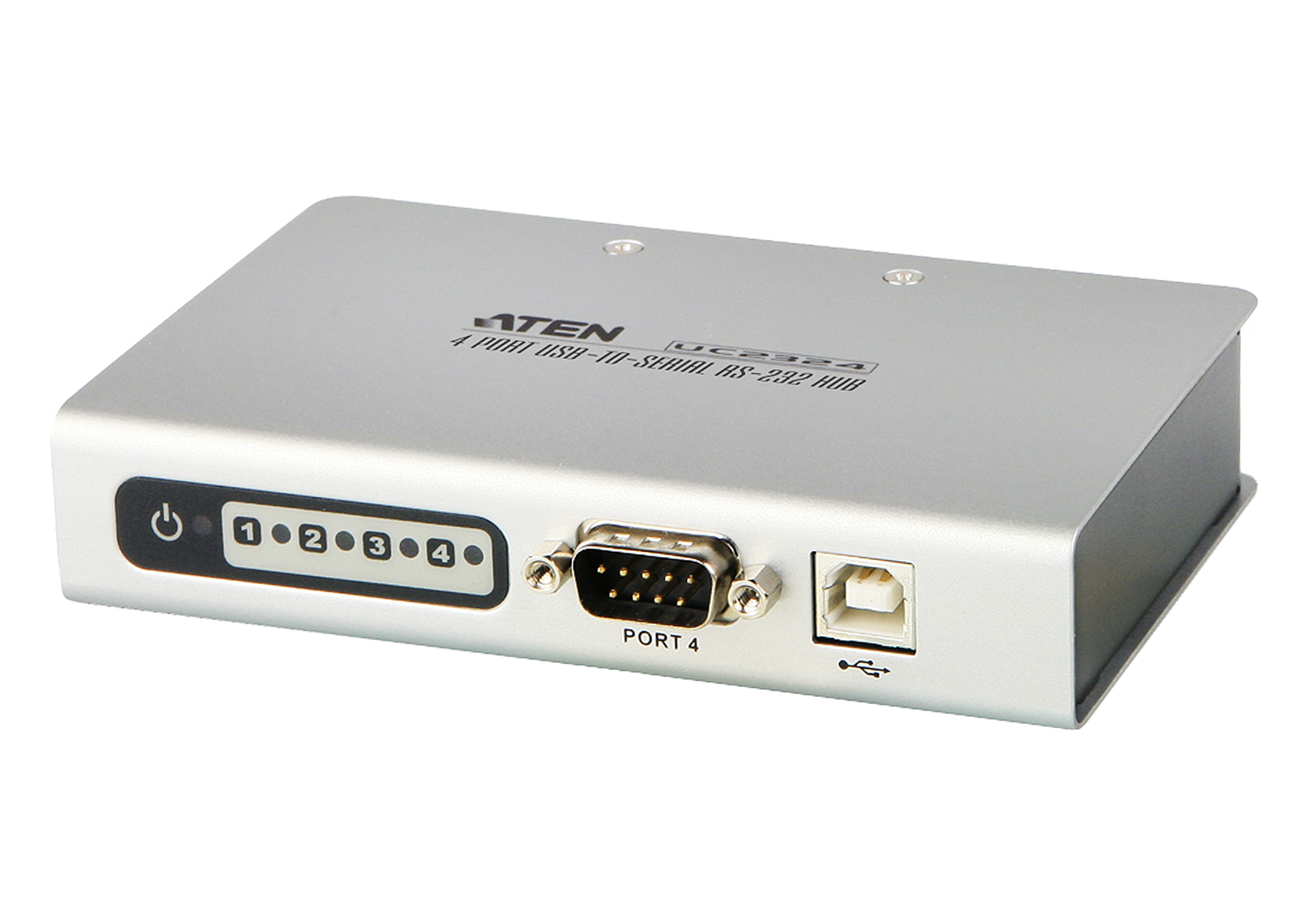 4-Port USB to RS-232 Hub-1