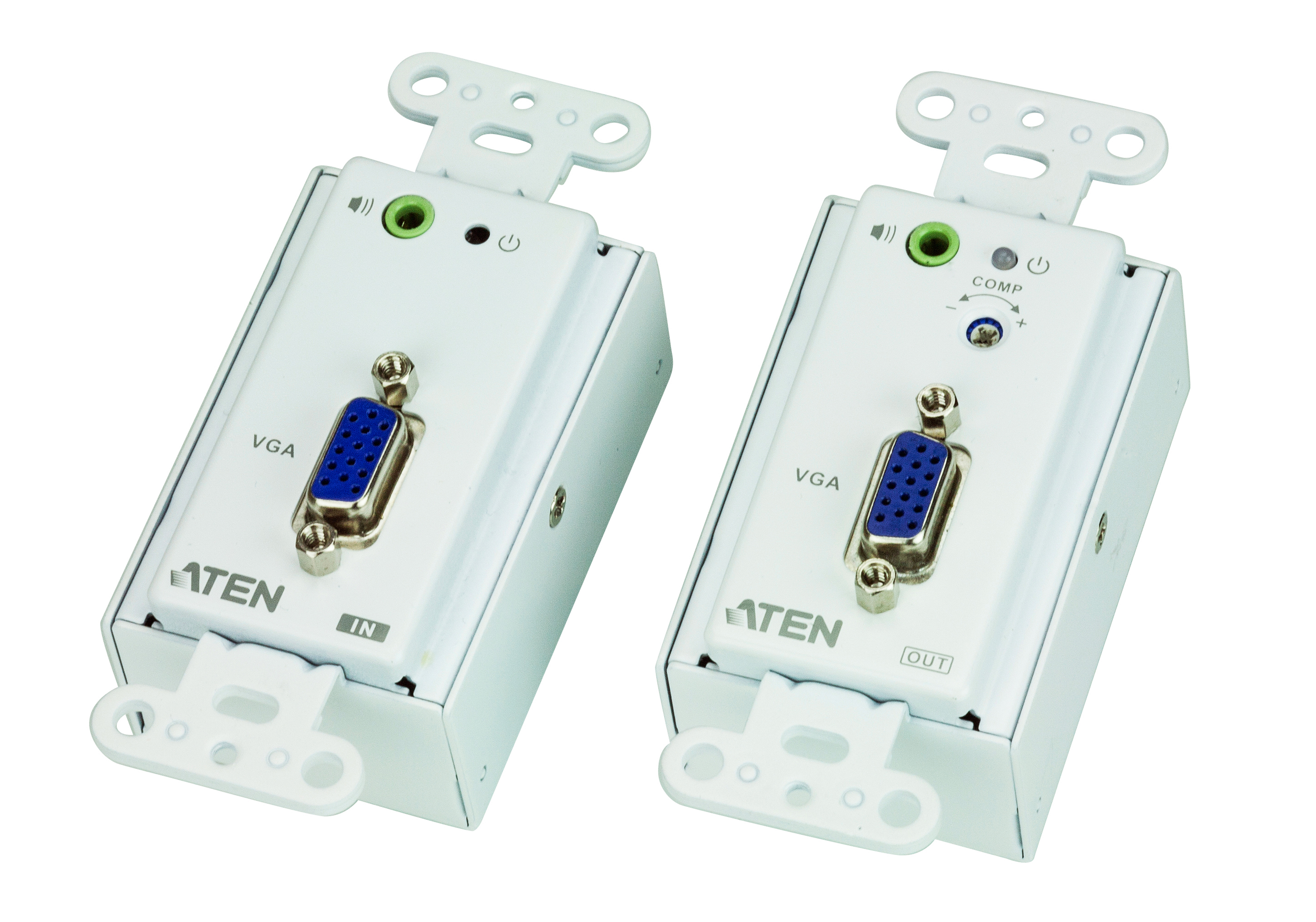 VGA/Audio Cat 5 Extender Wall Plate (US) (1280 x 1024@150m)-1