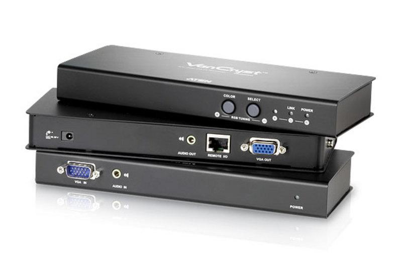Extensor VGA/Áudio Cat 5 com compensação automática (1280 x 1024 a 300 m (RQ))-1