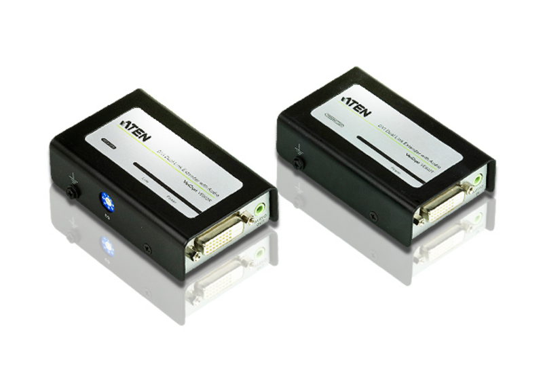 DVIツイストペアケーブルエクステンダー(DVIデュアルリンク、オーディオ対応)-1