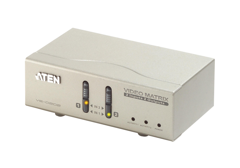 2x2 VGA/音频矩阵式影音切换器-1