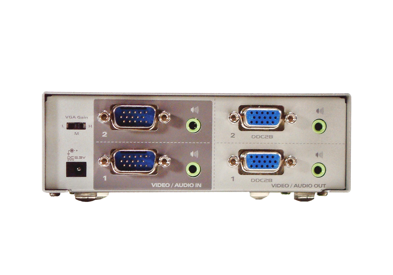 2x2 VGA/音频矩阵式影音切换器-2