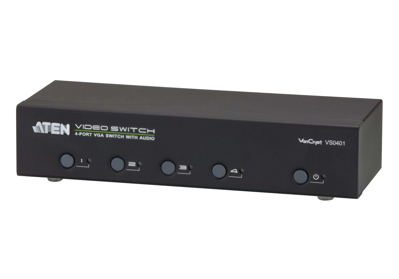 Comutador VGA/Áudio de 4 portas-1