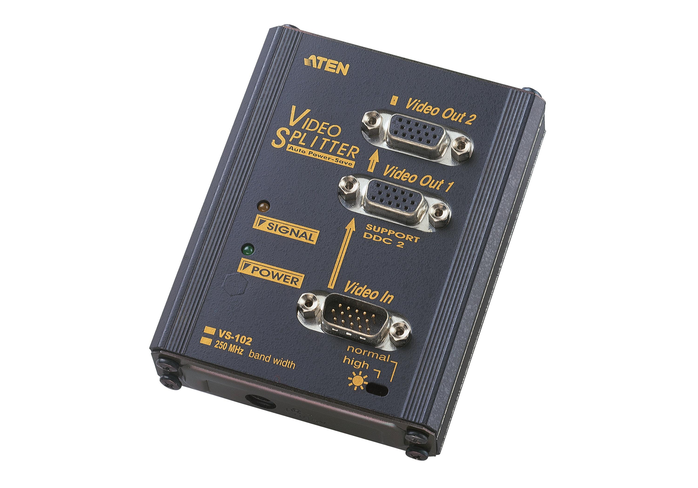 2-Port VGA Splitter Wall Plate (250MHz)-1