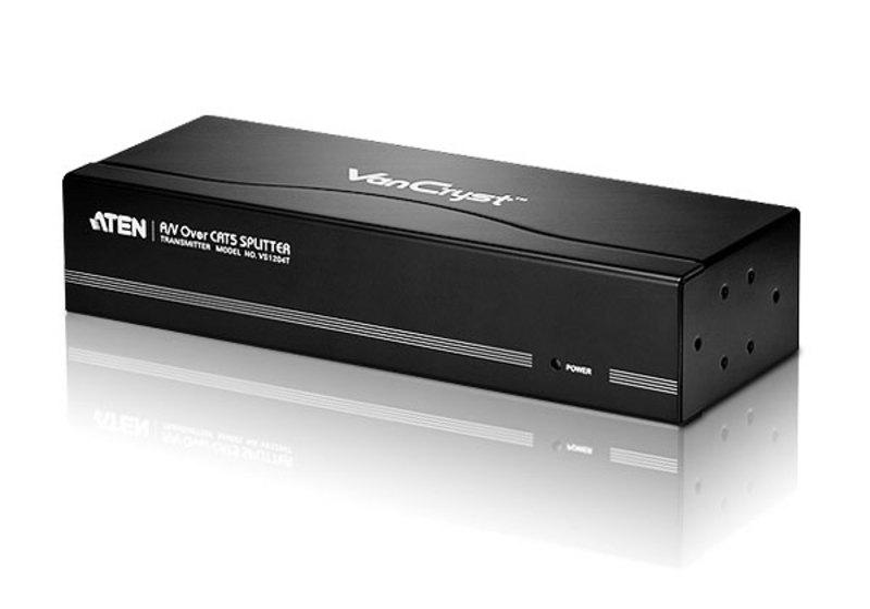 Repartidor VGA/Áudio Cat 5 de 4 portas-1
