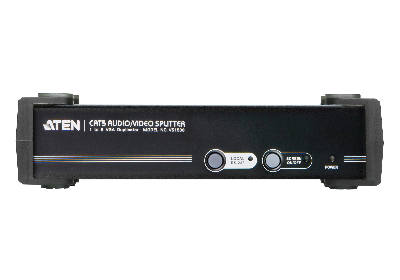 8端口VGA/音频/RS-232 Cat 5影音分配器-3