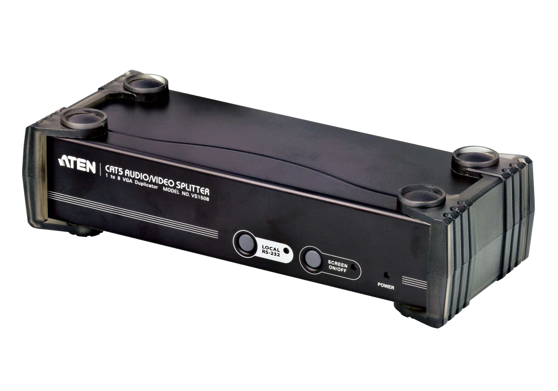 8端口VGA/音频/RS-232 Cat 5影音分配器-1