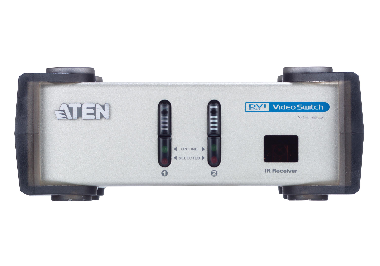 Comutador DVI/Áudio de 2 portas-3
